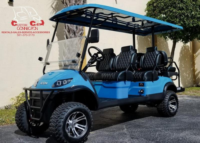 2020 ICON i60L Custom Caribbean Blue Golf Cart w/Upgraded Seats