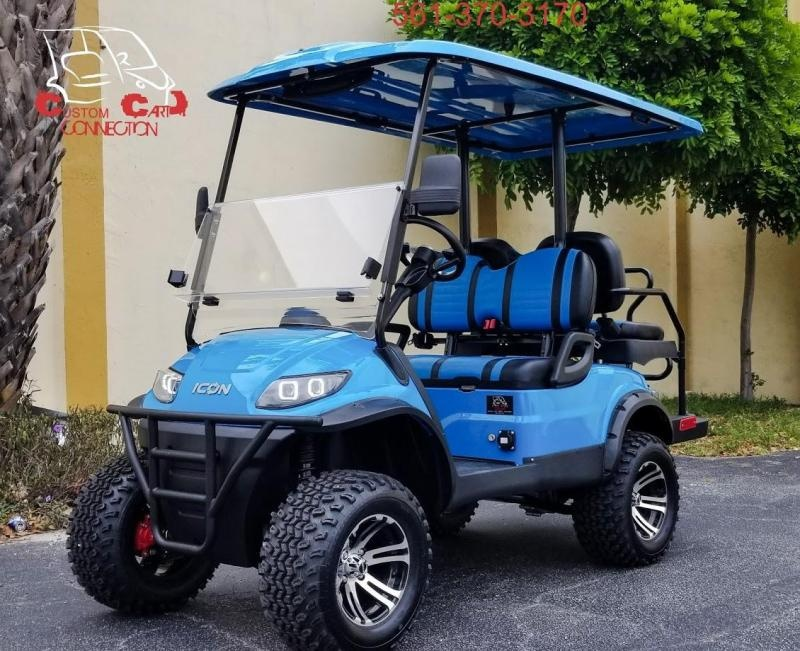 2020 ICON i40L Caribbean Blue Golf Cart