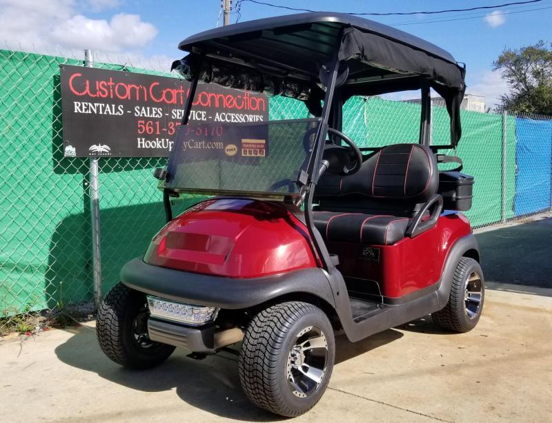 2016 Burgundy Club Car Precedent Golf Cart