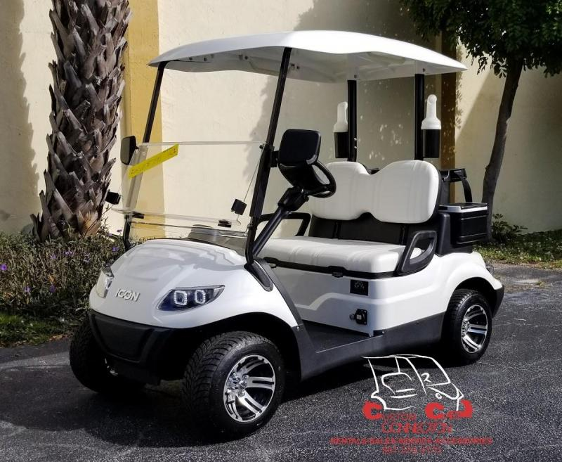 2020 ICON i20 Electric Golf Cart with bag attachments