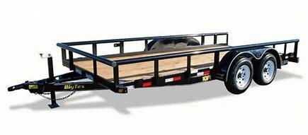 10PI-20Tandem Axle Pipe Top Utility Trailer