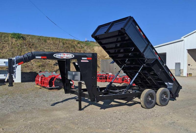 "NEW 2020 Bri-Mar 6'9""x 14 HD Lo Pro Gooseneck Equipment Trailer"