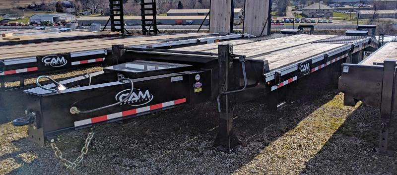 NEW 2020 CAM SUPERLINE 20+5 (20 TON) Deckover Tagalong w/ Air Brakes & Wood Filled Stand Up Ramps