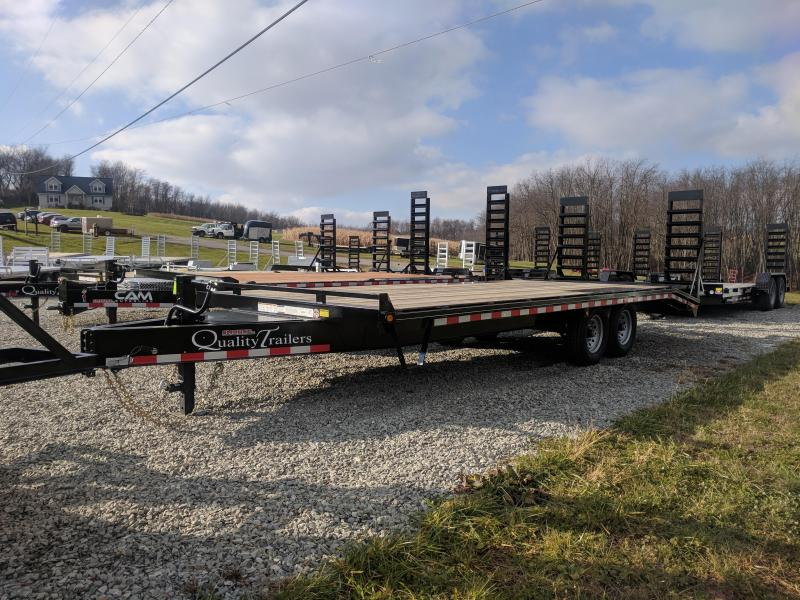 NEW 2020 Quality 19+4 HD PRO Deckover Equipment Hauler w/ Pop Up Dove Tail
