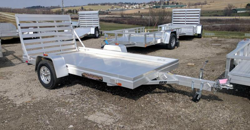 "NEW 2020 Aluma 5'8"" x 10 HD Utility Trailer"