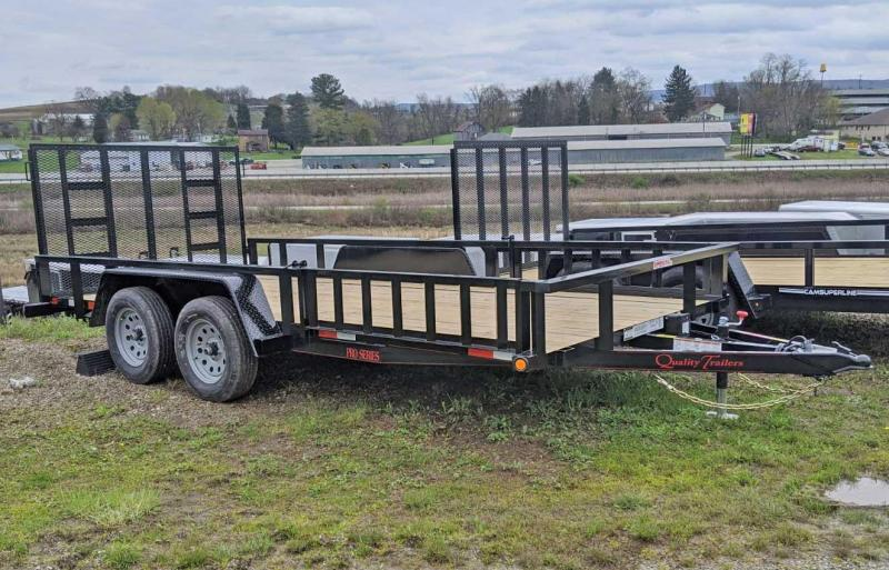 NEW 2020 Quality 7x16 PRO Utility Trailer w/ Side ATV Ramps & Spring Assist Rear Gate