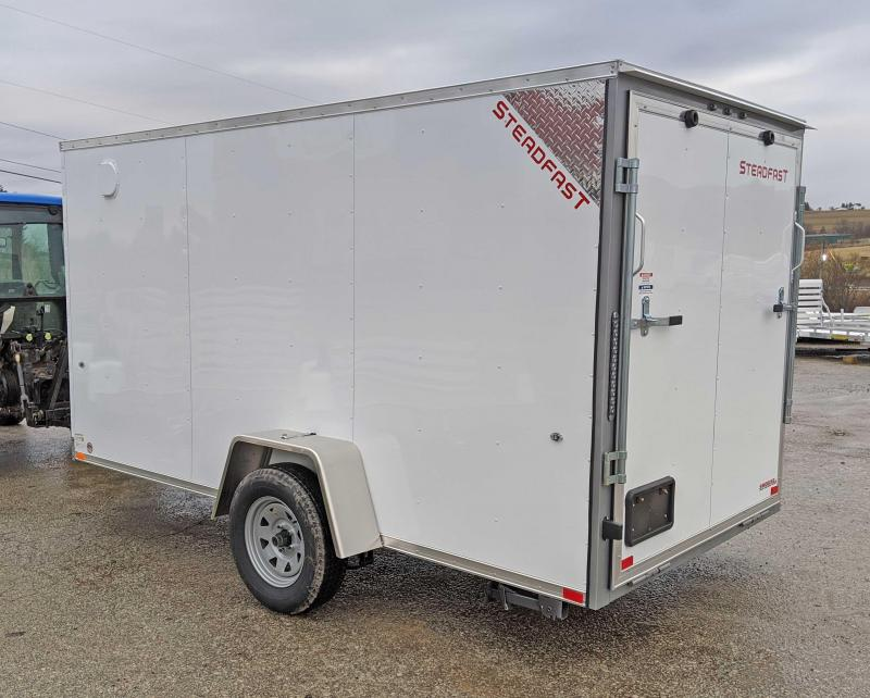 NEW 2020 Steadfast 6x12 JST Sloped V-Nose Cargo Trailer w/ Ramp Door