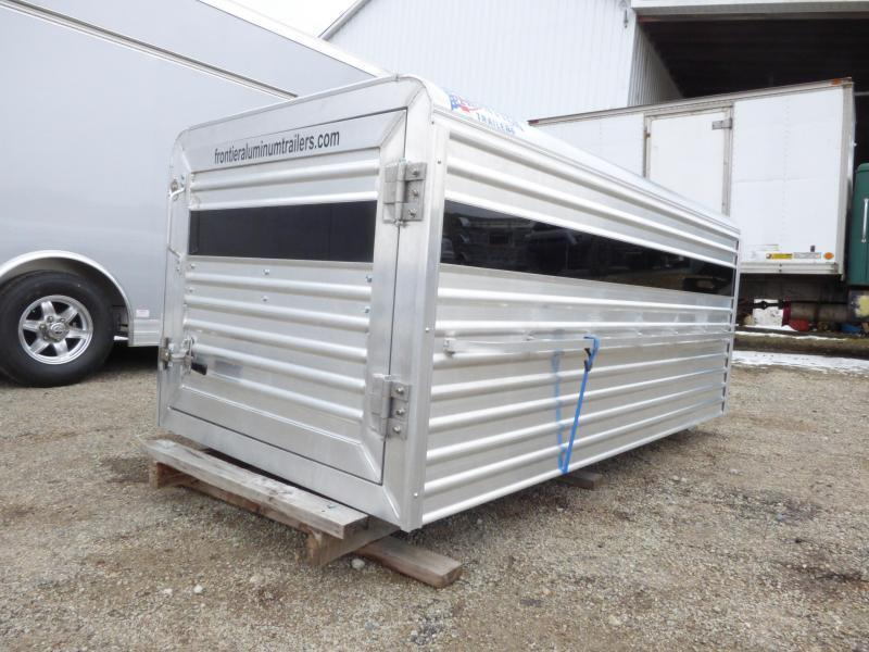 NEW 2019 Frontier 8' Aluminum Small Livestock Topper w/ Verticle Center Divider