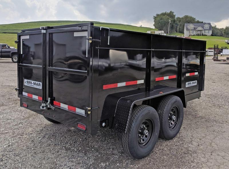 """NEW 2020 Bri-Mar 6x12 Lo Pro Equipment Dump w/ 44"""" Sides (10k)"""