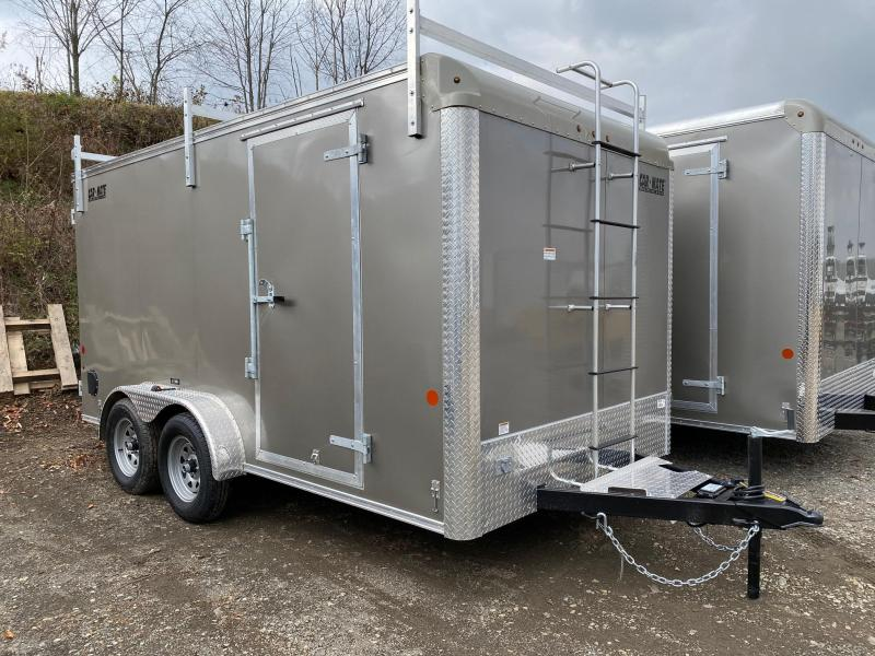 NEW 2020 Car Mate 7x14 HD Custom Contractor Trailer w/Barn Doors