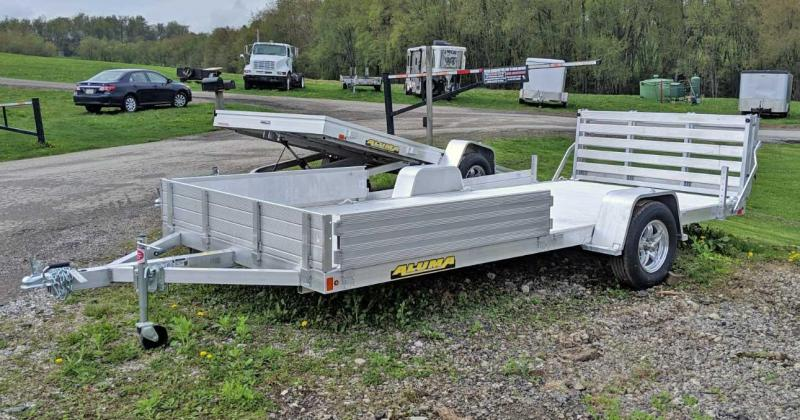 "NEW 2020 Aluma 6'9"" x 15 Utility w/ Side Ramps & Bi-Fold Gate"