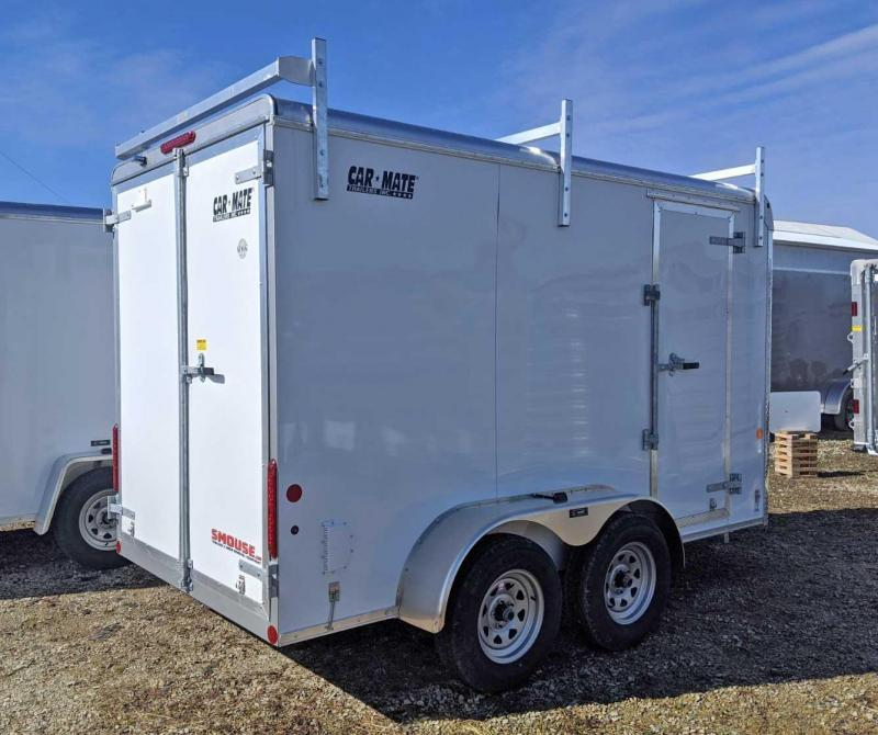 "NEW 2020 Car Mate 6x12 HD Custom Cargo Trailer w/ Barn Doors (6"" Add'l Hgt)"