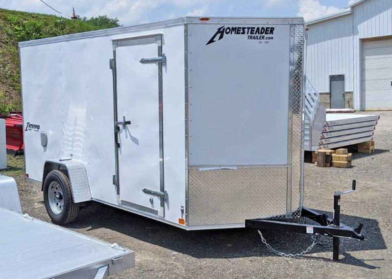 NEW 2021 Homesteader 6x12 V-Nose Intrepid Cargo Trailer w/ Ramp Door