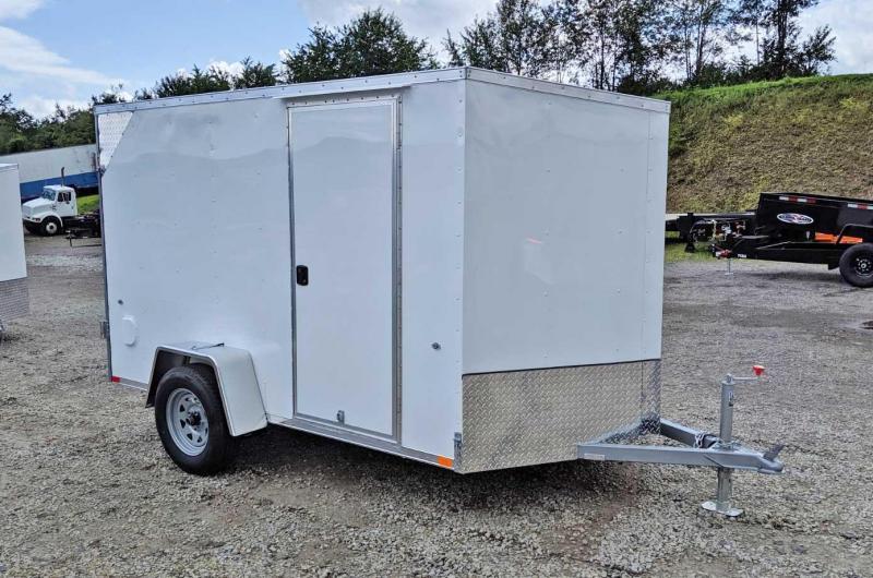 NEW 2019 Steadfast 6x10 JST Sloped V-Nose Cargo Trailer w/ Barn Doors