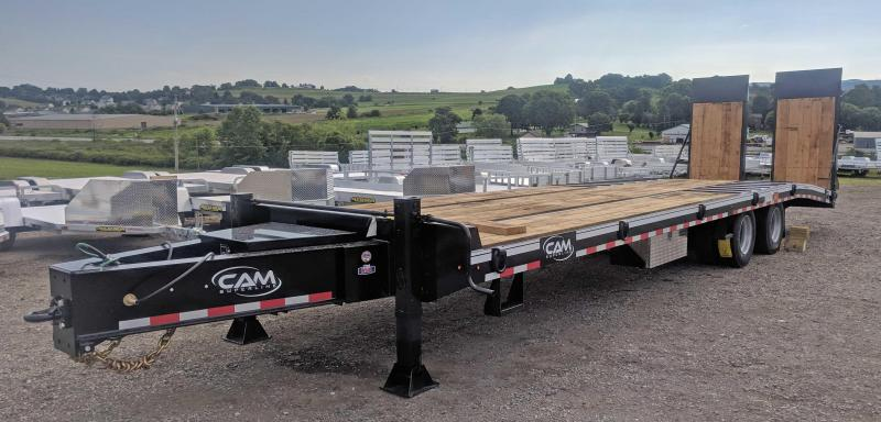 NEW 2020 CAM SUPERLINE 24+7.5 HD (20 TON)  Deckover Tagalong w/ 40x80 Hydraulic Powered Ramps with a 7.5' Double Break Beavertail