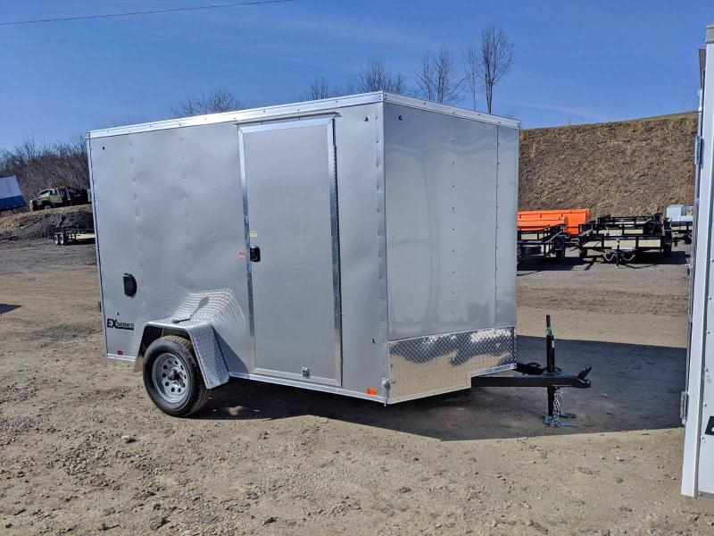NEW 2020 Cargo Express 6x10 EX DLX Sloped V-Nose Cargo Trailer w/ Ramp