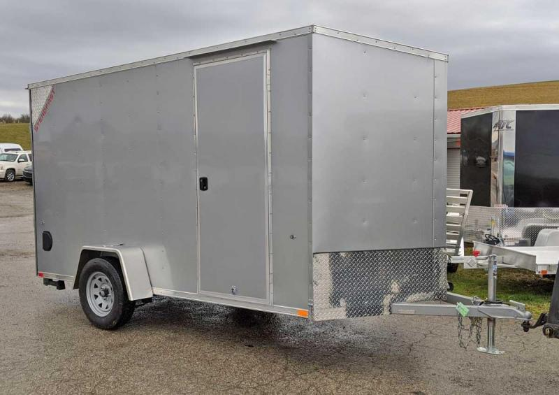 "NEW 2020 ITI ""Steadfast"" 6x10 JST Sloped V-Nose Cargo Trailer w/ Ramp Door (6"" Add'l Hgt)"