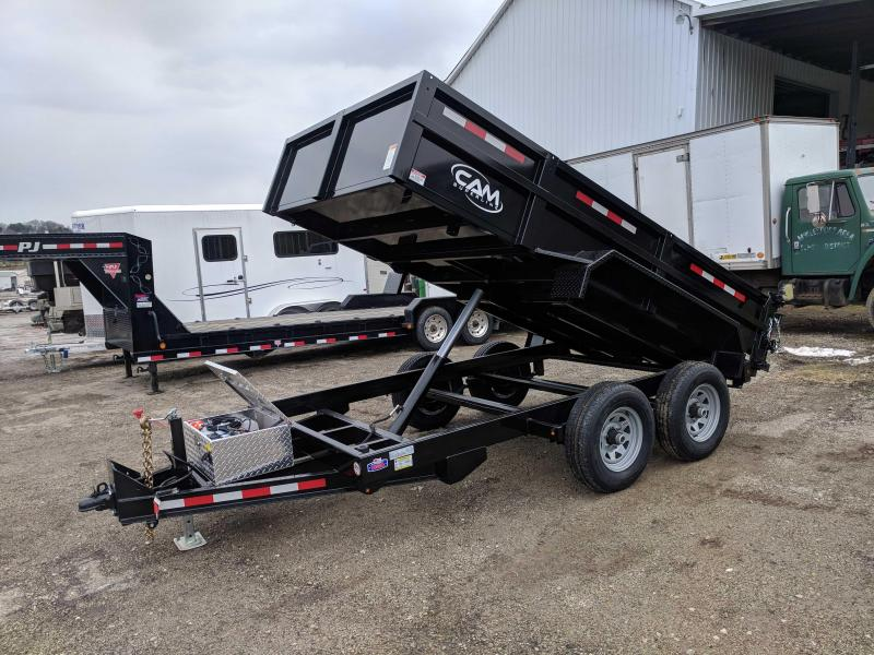 NEW 2020 CAM 6x12 Lo Pro Equipment Dump Trailer