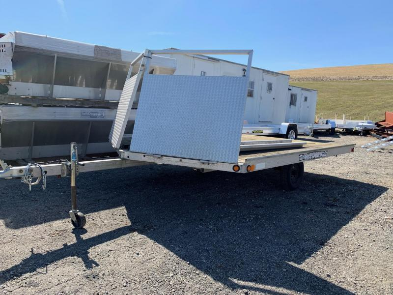 "USED 2005 Newman ""Sled Bed"" Aluminum Drive On/Drive Off Snowmobile Trailer"