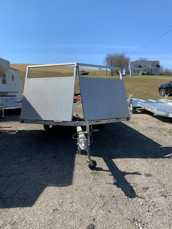 """USED 2005 Newman """"Sled Bed"""" Aluminum Drive On/Drive Off Snowmobile Trailer"""