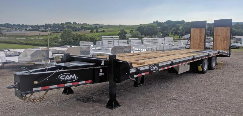 """NEW 2020 CAM SUPERLINE 24+7.5 (20 TON) HD Deckover Tagalong w/ Air Brakes, 40"""" x 80"""" Hydraulic Powered Ramps and 7.5' Double Break Beavertail"""