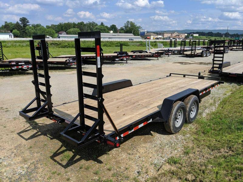 NEW 2020 Quality 18' General Duty Equipment Hauler w/ No Dove & Stand Up Ramps (9990#)