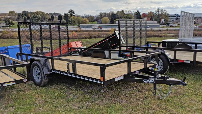 NEW 2020 CAM 7x12 Tube Top Utility Trailer