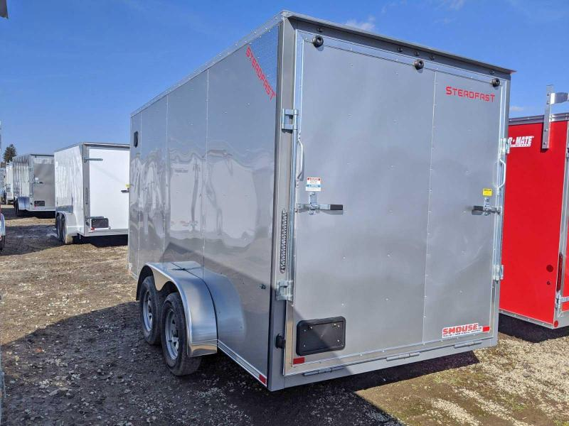 "NEW 2020 Steadfast 7x14 JST Sloped V-Nose Cargo Trailer w/ Ramp Door (12"" Add'l Hgt)"