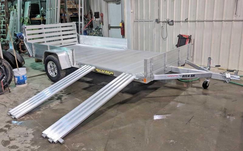 "NEW 2020 Aluma 6'9"" x 14' SR Utility w/ Side Ramps and Bi-Fold Gate"