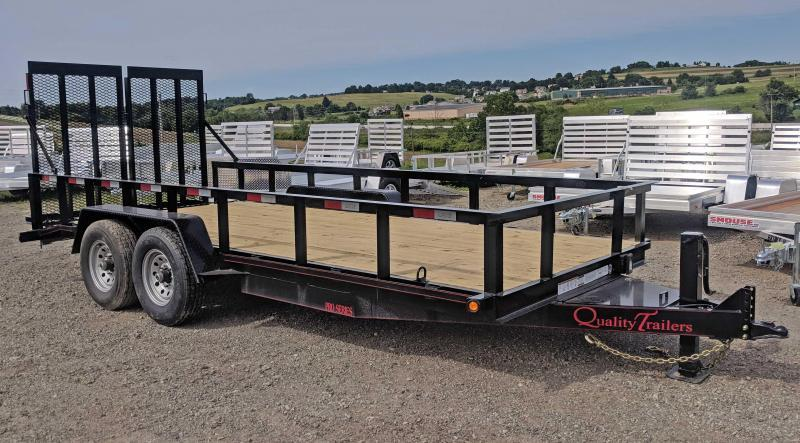NEW 2019 Quality 18' PRO Equipment Trailer w/ HD Split Spring Assist Landscape Gate