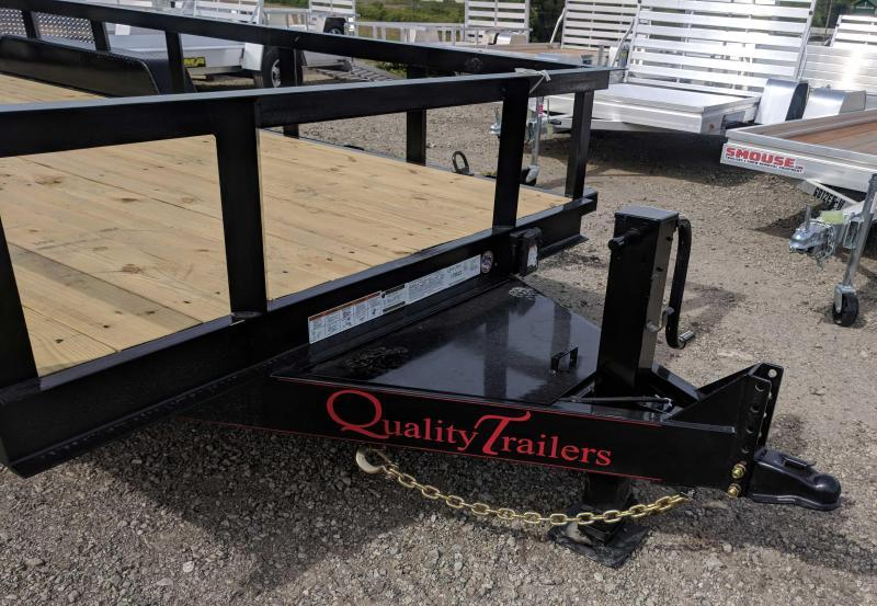 NEW 2019 Quality 18' PRO Equipment Trailer w/ HD Split Spring Assist Landscape Gate
