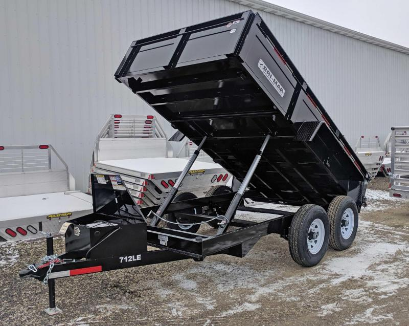 "NEW 2019 Bri-Mar 6'9"" x 12 HD Lo Pro Equipment Dump w/ Underbody Ramps"