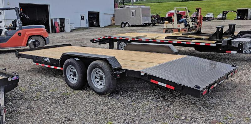 NEW 2019 CAM 18' HD Car Hauler w/ Underbody Ramps & Removable Fender