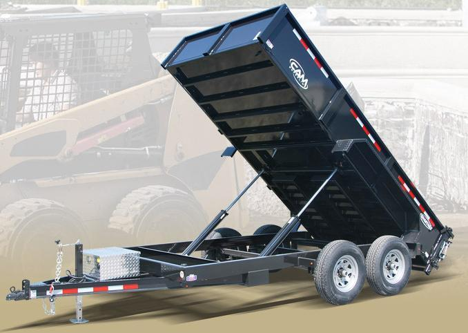 "NEW 2020 CAM ""Advantage"" 6'8"" x 14"" HD Lo Pro Equipment Dump Trailer"