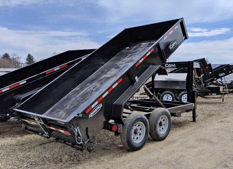 "NEW 2020 CAM ""Advantage"" 6'8"" x 14' HD Gooseneck Lo Pro Equipment Dump Trailer"
