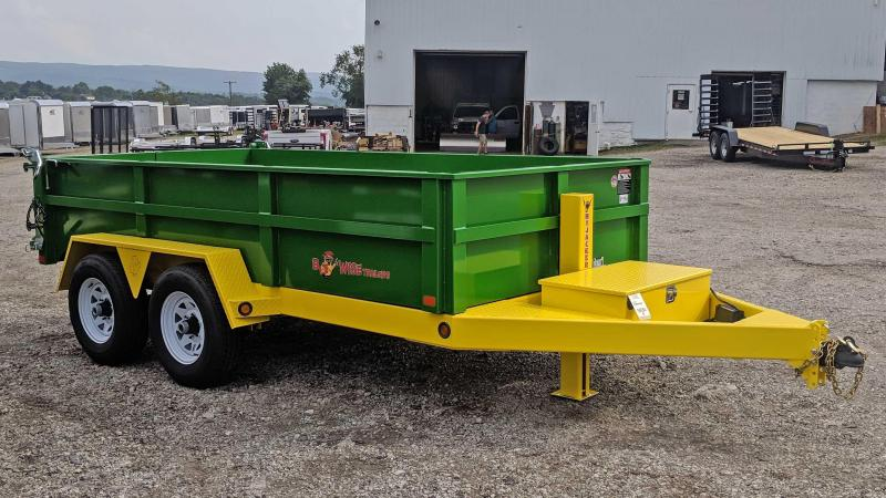 NEW 2019 B-Wise 6X12 Lo Pro Equipment Dump Trailer