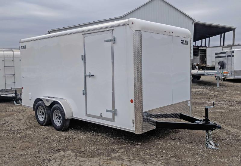 "NEW 2020 Car Mate 7x16 HD Custom Cargo Trailer w/ Barn Doors (12"" Add'l Hgt)"