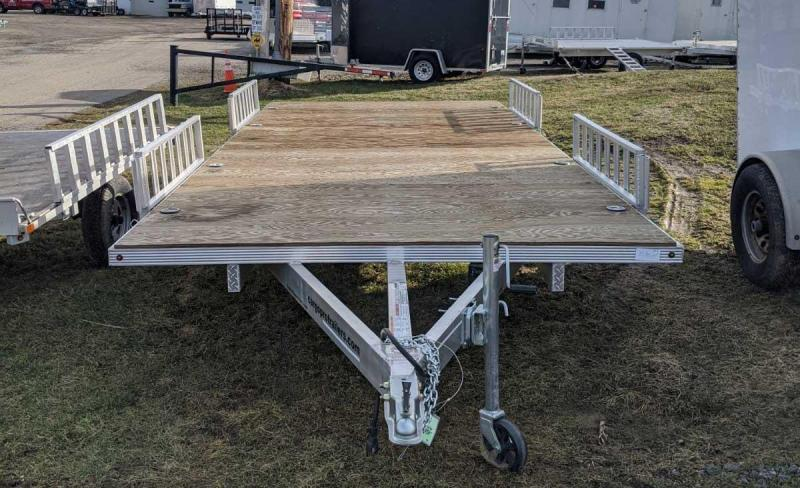 USED 2019 Cargo Pro 8x18 Deckover ATV Trailer w/ Side Ramps