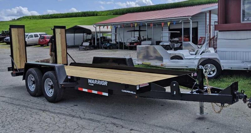 NEW 2020 CAM 16' Warrior Equipment Hauler w/ Wood Filled Ramps