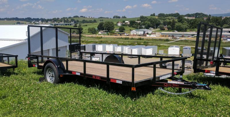 NEW 2020 Quality 7x14 Utility Trailer w/ Spring Assist/Lay Flat Gate