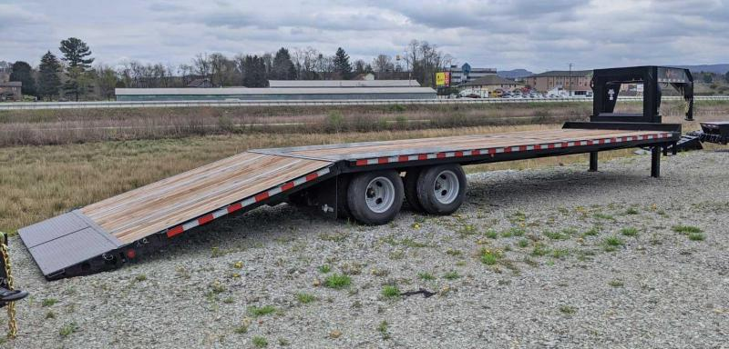 NEW 2020 BWise 32' Gooseneck Deckover Equipment Hauler w/ 10' Hydraulic Dove Tail
