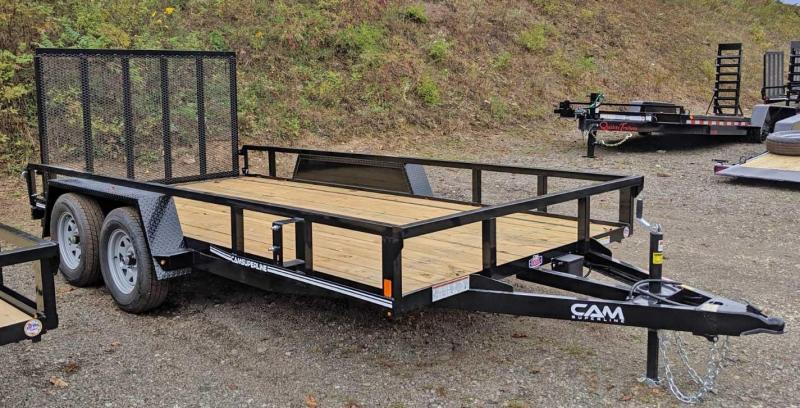 NEW CAM Superline 7x14 Tandem Utility Trailer w/ Tube Top & Spring Assist Gate