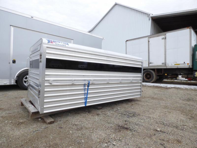 NEW 2019 Frontier 8' Aluminum Small Livestock Topper w/ Center Gate
