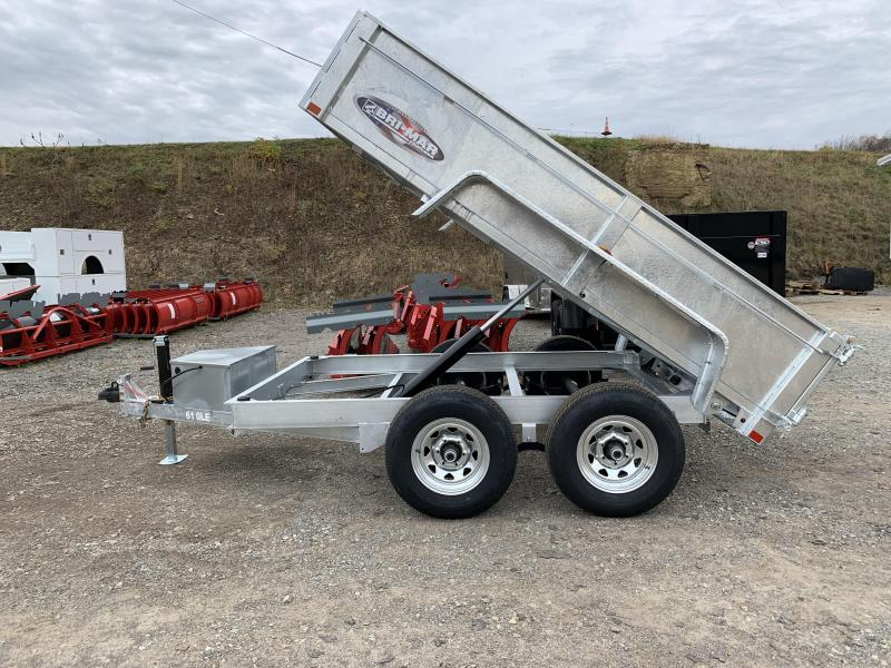 NEW 2020 Bri-Mar 6x10 Lo Pro Dump Trailer w/ Combo Gate (Galvanized)