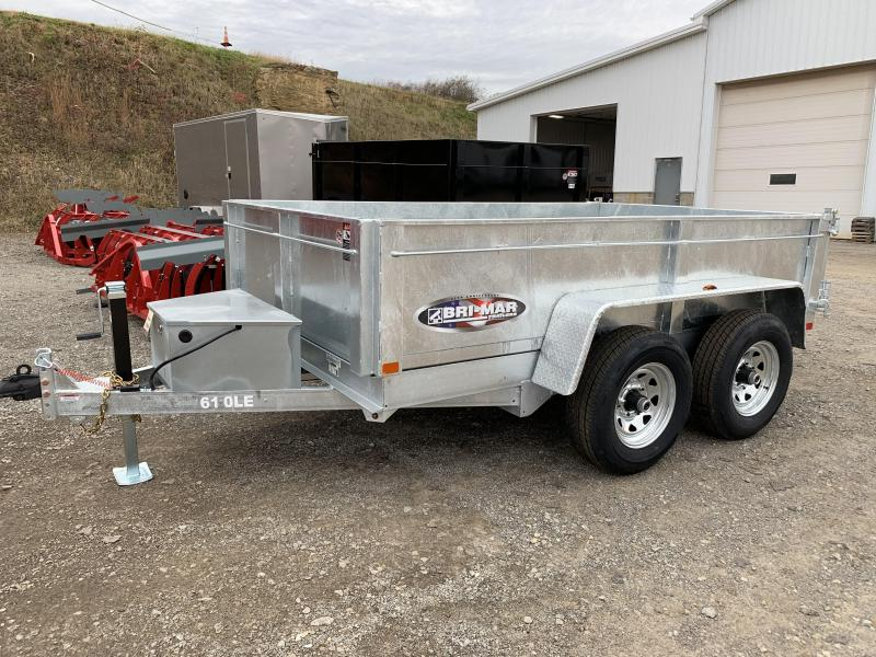 NEW 2020 Bri-Mar 6x10 Lo Pro Dump Trailer (Galvanized)