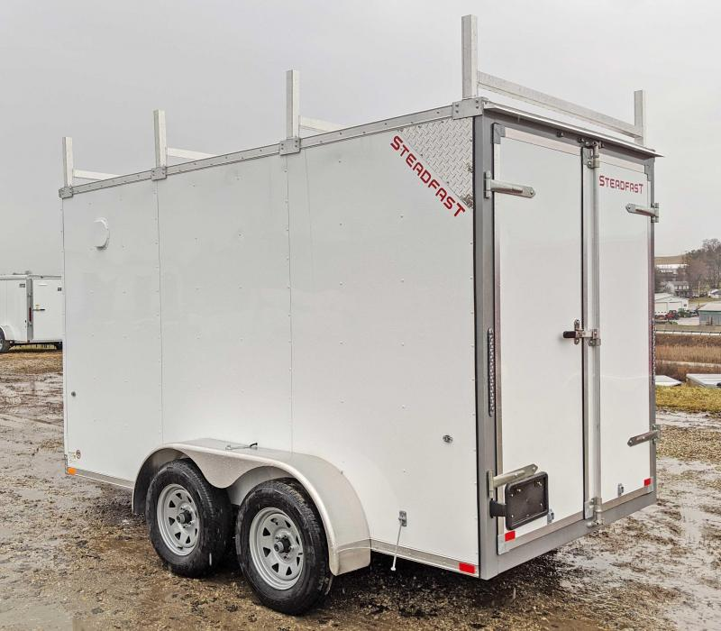 "NEW 2020 Steadfast 6x12 Tandem JST Sloped V-Nose Cargo Trailer w/ Rear Barn Doors (6"" Add'l Height)"