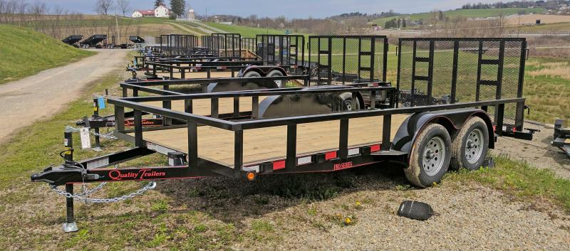 NEW 2020 Quality 7x16 PRO Utility Trailer w/ 2' Dove & Spring Assist Gate