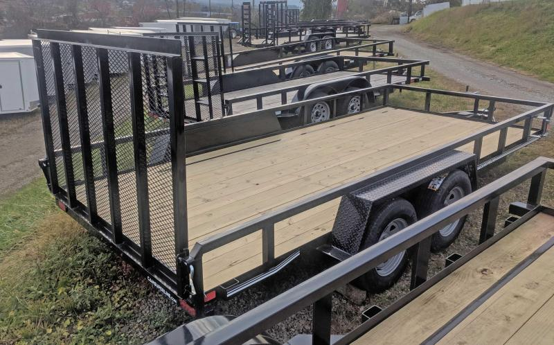 NEW 2020 CAM 7x16 Tube Top Utility Trailer