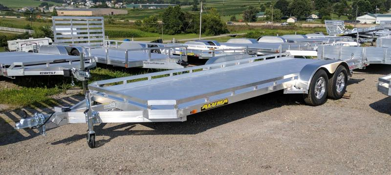 "NEW 2021 Aluma 6'6"" x 18' Tandem Utility Trailer w/ Dove Tail & Pull Out Ramps"