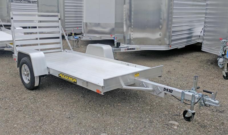 """NEW 2021 Aluma 4'6"""" x 10' LW Utility Trailer"""